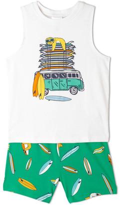 Milkshake Surfing Sloths Pyjama