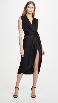 Jonathan Simkhai Luxe Satin Combo Twist Dress
