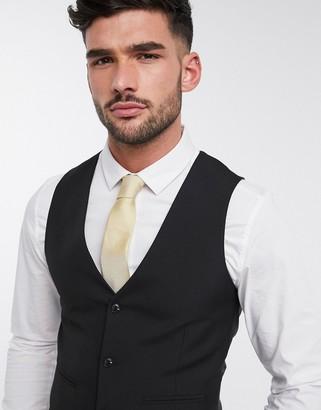 Harry Brown slim fit plain suit suit vest