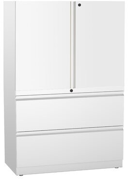 Ber 2 Door Storage Cabinet Rebrilliant Finish: White
