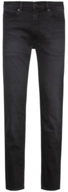 HUGO BOSS Slim-fit jeans in black-black denim
