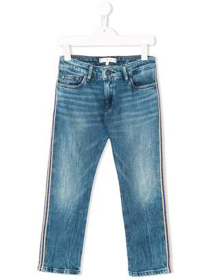 Tommy Hilfiger Junior striped slim-fit jeans