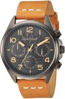 Timberland Men's 'BARTLETT II' Quartz Stainless Steel and Leather Dress Watch, Color:Beige (Model: TBL14844JSU02)
