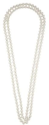 Jil Sander Doubled Sphere Silver Necklace - Silver