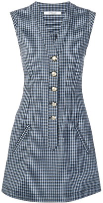 Derek Lam 10 Crosby Mouline Check Dress