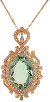 Effy Green Amethyst, Diamond And 14K Rose Gold Pendant Necklace