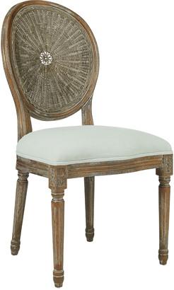 OKA Washakie Linen Chair - Stonewashed Eau de Nil
