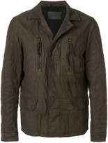 AllSaints creased zipped jacket