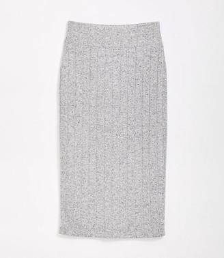 LOFT Lou & Grey Ribbed Brushmarl Midi Skirt
