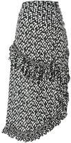 Marni asymmetric geometric skirt