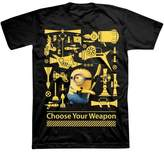 Universal Boys' Minions Short Sleeve T-Shirt - Black