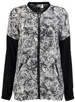 O'Neill Womens Fable Bomber Jacket Coat Top Lightweight Zip Full Print