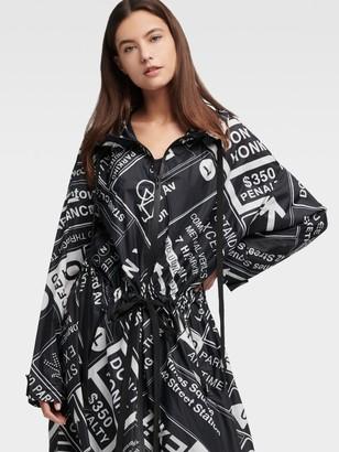 DKNY Mta Long-line Zip Coat