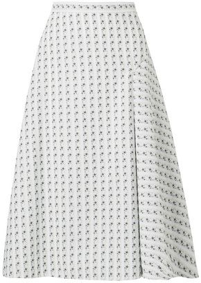 Erdem Mina Floral-jacquard Midi Skirt