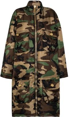Moschino Oversized Padded Camouflage-Print Coat
