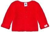 Petit Bateau Red Chunky Cotton Unisex Cardigan