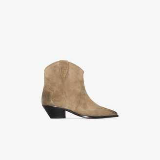 Isabel Marant taupe Dewina 40 suede Western boots