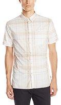 Calvin Klein Jeans Men's Yarn Dye Bleach Plaid Shirt