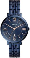 Fossil Women's Jacqueline Blue Stainless Steel Bracelet Watch 36mm ES4094