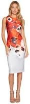 Adrianna Papell Poppy Delight Midi Sheath Dress Women's Dress