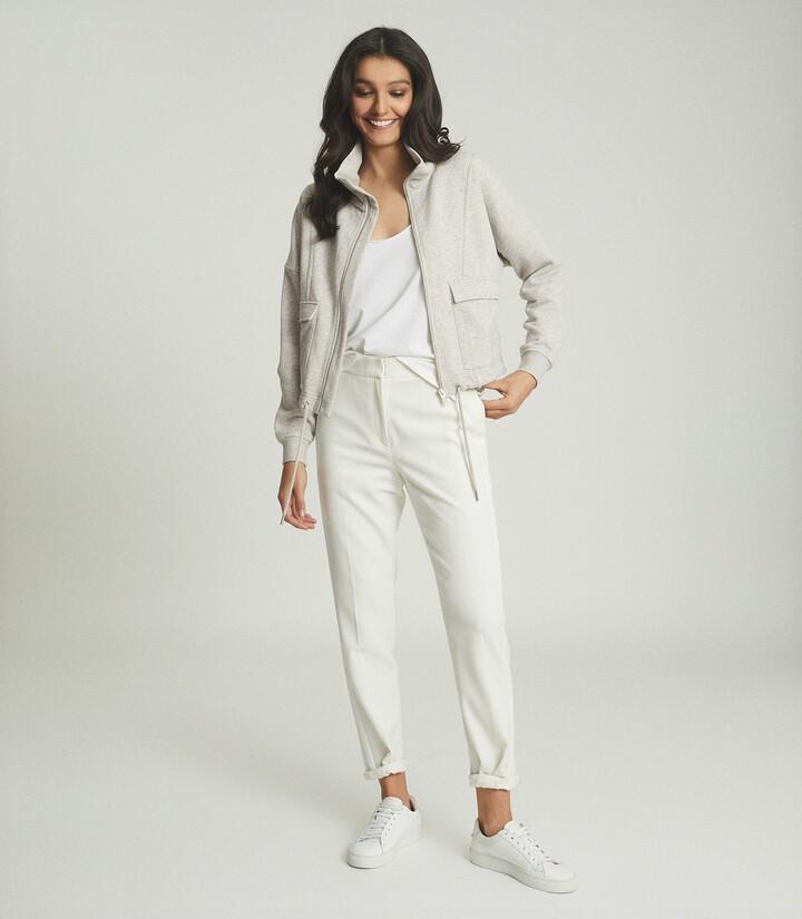 Thumbnail for your product : Reiss Zadie - Zip Through Loungewear Sweatshirt in Grey
