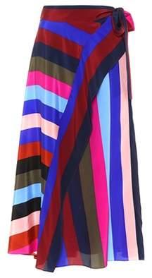 Diane von Furstenberg Striped silk wrap skirt