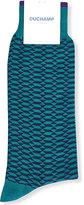 Duchamp Geometric-patterned cotton-blend socks