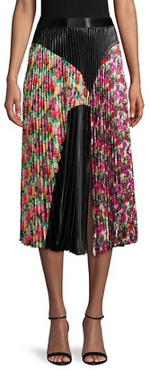 DELFI Collective Front-Slit Pleated Skirt