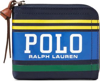 Ralph Lauren Polo Striped Zip Wallet