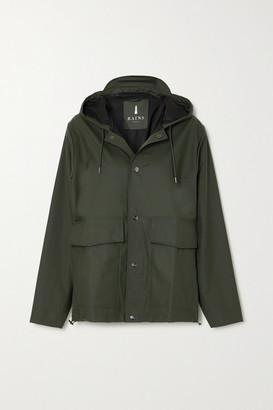 Rains Hooded Shell Coat - Green
