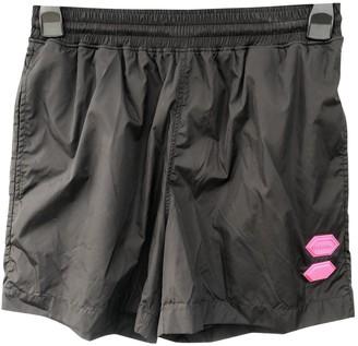 Off-White Black Polyester Shorts