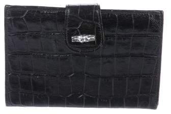 Longchamp Embossed Leather Wallet