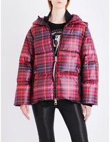 Hilfiger Collection Tartan quilted shell-down puffer jacket