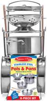 Melissa & Doug Kids' 8-Piece Pots & Pans Play Set