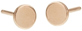 Jennifer Meyer Circle Stud Earrings - Rose Gold