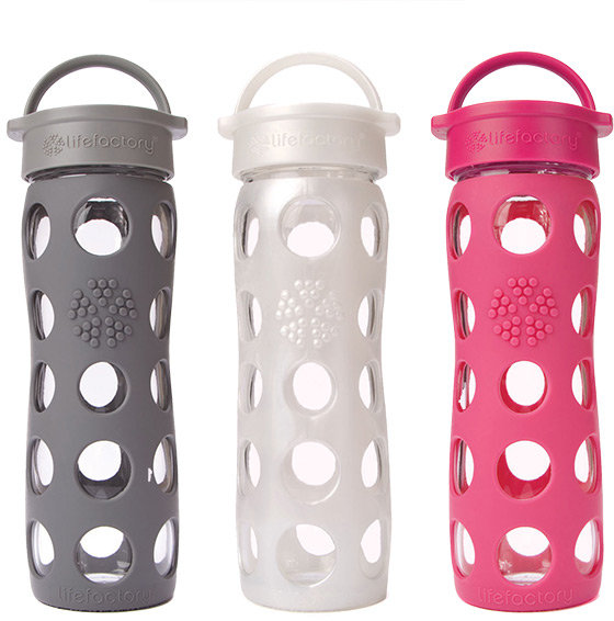 Container Store 16 oz. Glass & Silicone Water Bottle