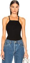 The Range Framed Rib Bodysuit in Black | FWRD