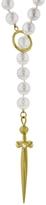 Cathy Waterman Carre Diamond & Akoya Pearl Sword Necklace