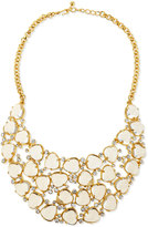 Kenneth Jay Lane Gold-Plated Bib Necklace W/Crystals