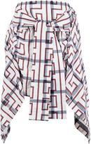 Vivienne Westwood tied shirt design skirt