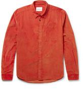 Albam - Cotton-corduroy Shirt - Orange