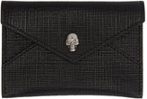 Alexander McQueen Black & Gunmetal Skull Envelope Card Holder