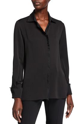 Max Mara Mogador Silk Button-Front Blouse