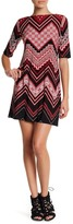 Sandra Darren Printed Jersey Dress (Petite)