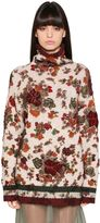 Antonio Marras Flowers Intarsia Wool Knit Turtleneck