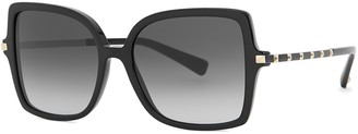 Valentino Garavani Black Oversized Sunglasses