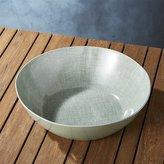 Crate & Barrel Porto Sage Green Serving Bowl