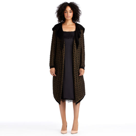 Rachel Roy Metallic Long Sweater