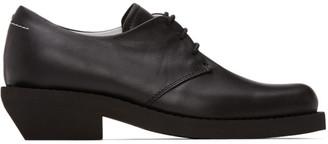 MM6 MAISON MARGIELA Black Leather Oxfords