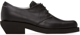 MM6 MAISON MARGIELA Black Leather Oxfords